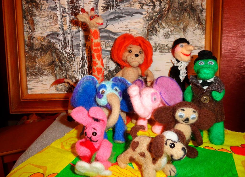 Сухое валяние игрушек